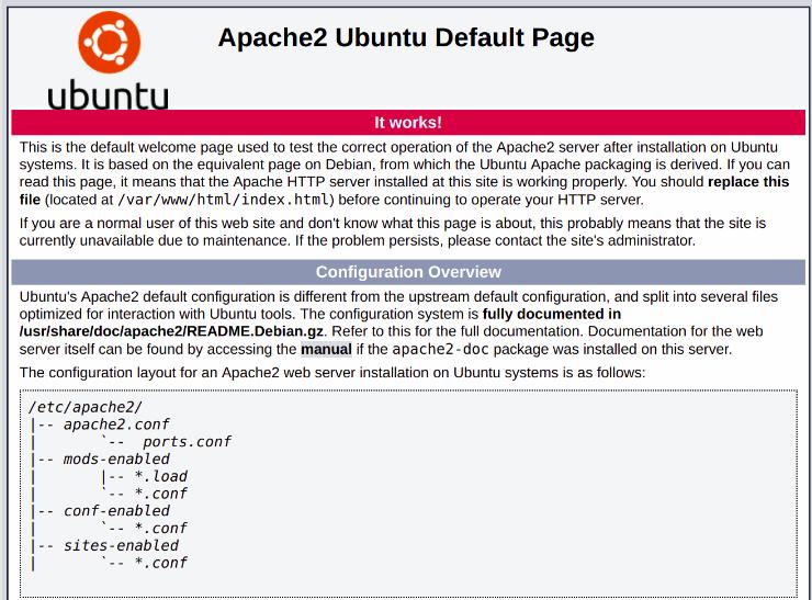 Apache 2 ubuntu default page