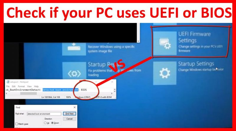Check UEFI or BIOS In Windows or Linux System