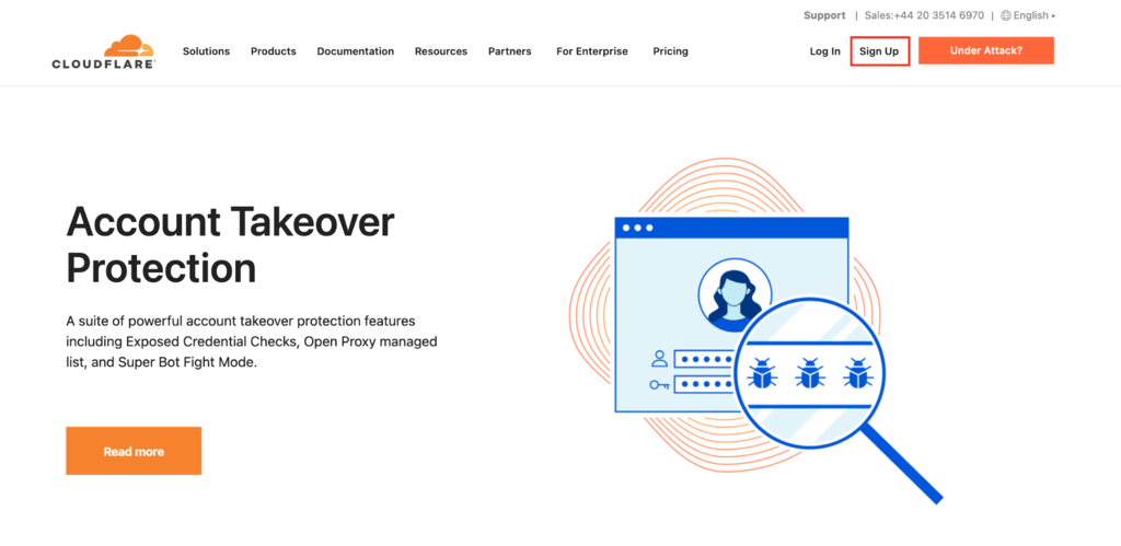 Create cloudflare account