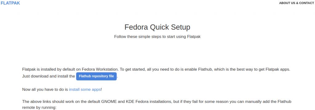 Flatpak in fedora