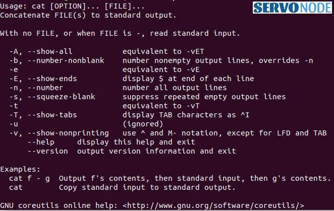 Linux cat command