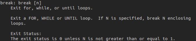 break command in Linux
