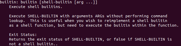 builtin command in Linux