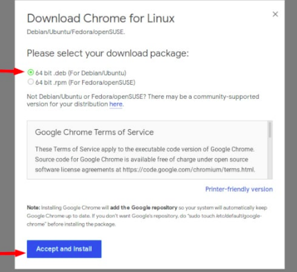 download chrome files in linux