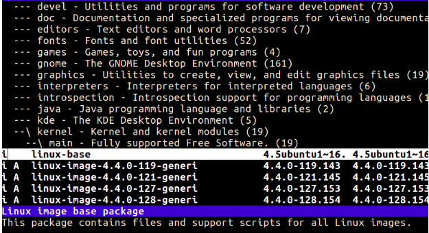 aptitude command in Linux