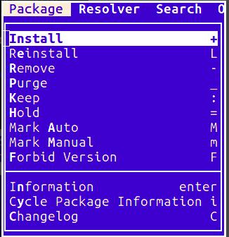 aptitude package tool