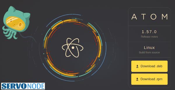 Atom text editor debian package