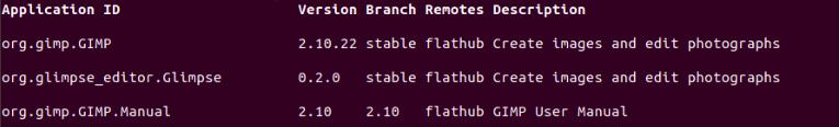 GIMP in Flatpak