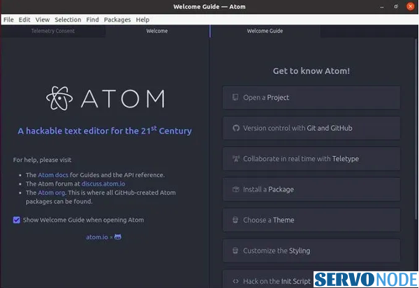 Install Atom Text Editor On Debian