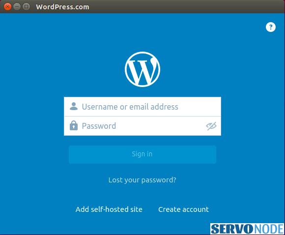 Wordpress.com app GUI
