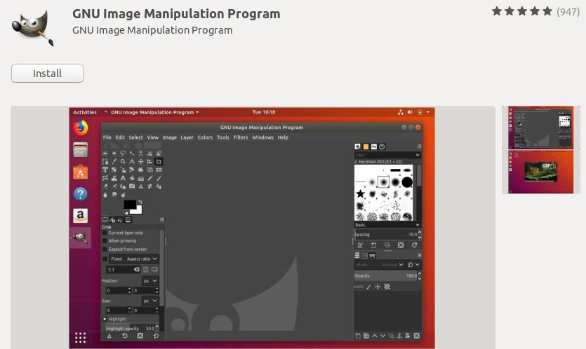 install Gimp editor on ubuntu