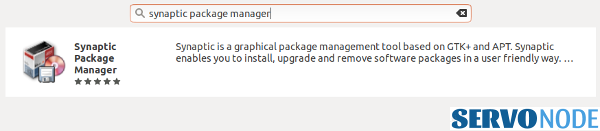 install synaptic package manager software center.