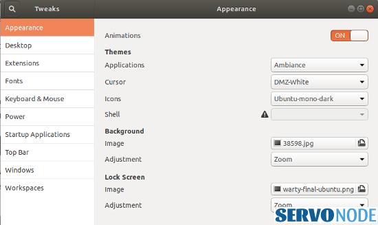 Gnome Tweaks tool ubuntu