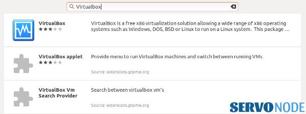 Virtualbox in software center ubuntu