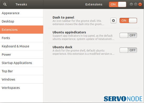 customize extensions