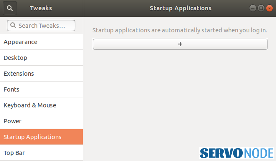 customize startup applications