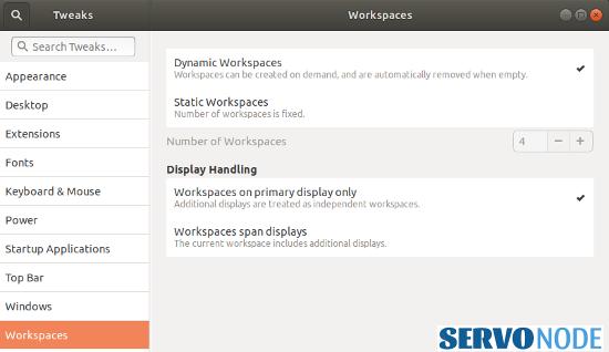 customizing workspaces