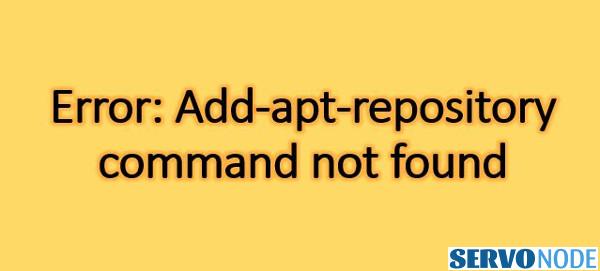 fix apt-add-repository command not found