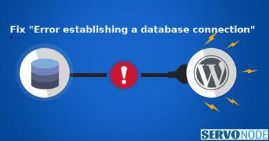 fix error establishing a database connection
