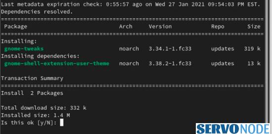 gnome tweaks tool through terminal