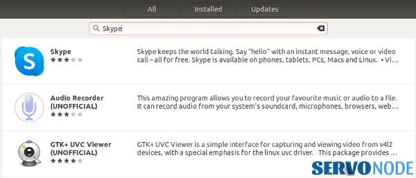 install skype on ubuntu via software center