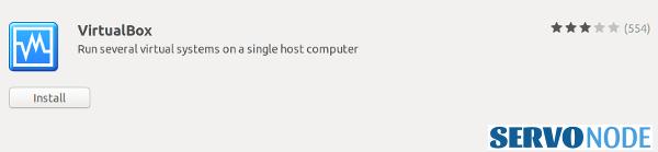 install virtualbox in ubuntu using software center