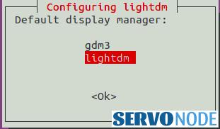 choose lightdm