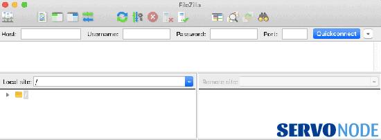 open filezilla