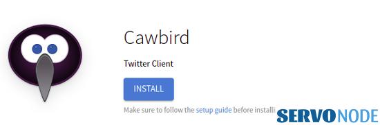 Install cawbird flatpak