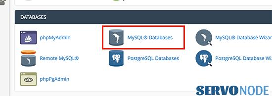 Mysql database in cPanel