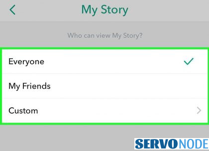 change story viewer's permissions